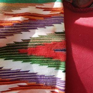 Softly Worn Vintage Navajo Blanket Neckscarf